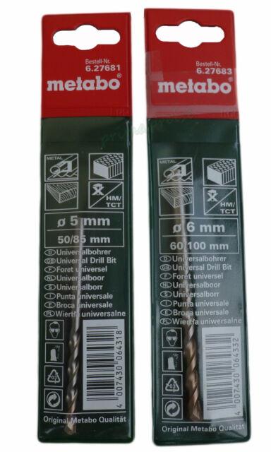 5,0 x 85 mm 627681000 hartmetallbestückt Metabo Universalbohrer