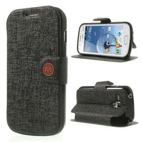 Schutz Tasche Hülle Flip Cover für Samsung Galaxy S Duos 2 Trend SCHWARZ M 30A