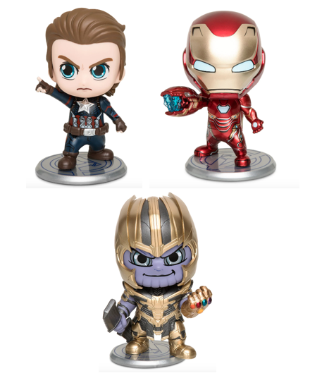 Marvel Set - Ironman - Thanos - Captain America - Cosbaby Bobble-Head-Special Se