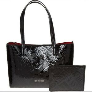 c375e638c89d Image is loading LOVE-MOSCHINO-Borsa-Embossed-Logo-Tote-Bag-with-