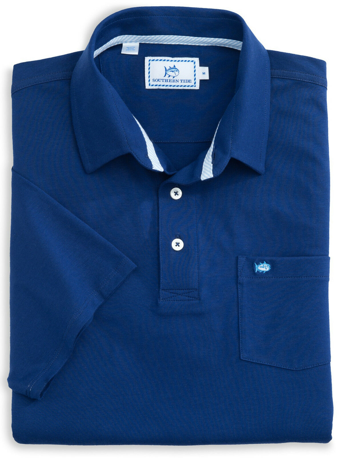 NWT Southern Tide Men's Channel Marker bluee Short Sleeve Polo Shirt Small