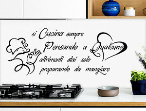 Wall stickers adesivi murali cucina kitchen si cucina for Stencil per cucina