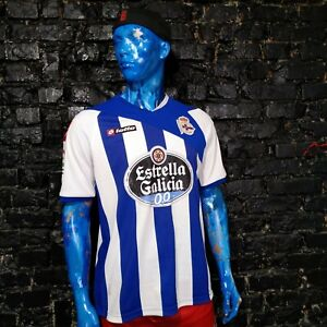 Deportivo La Coruna Jersey Home shirt 2011 - 2012 Lotto Camiseta Mens Size XL