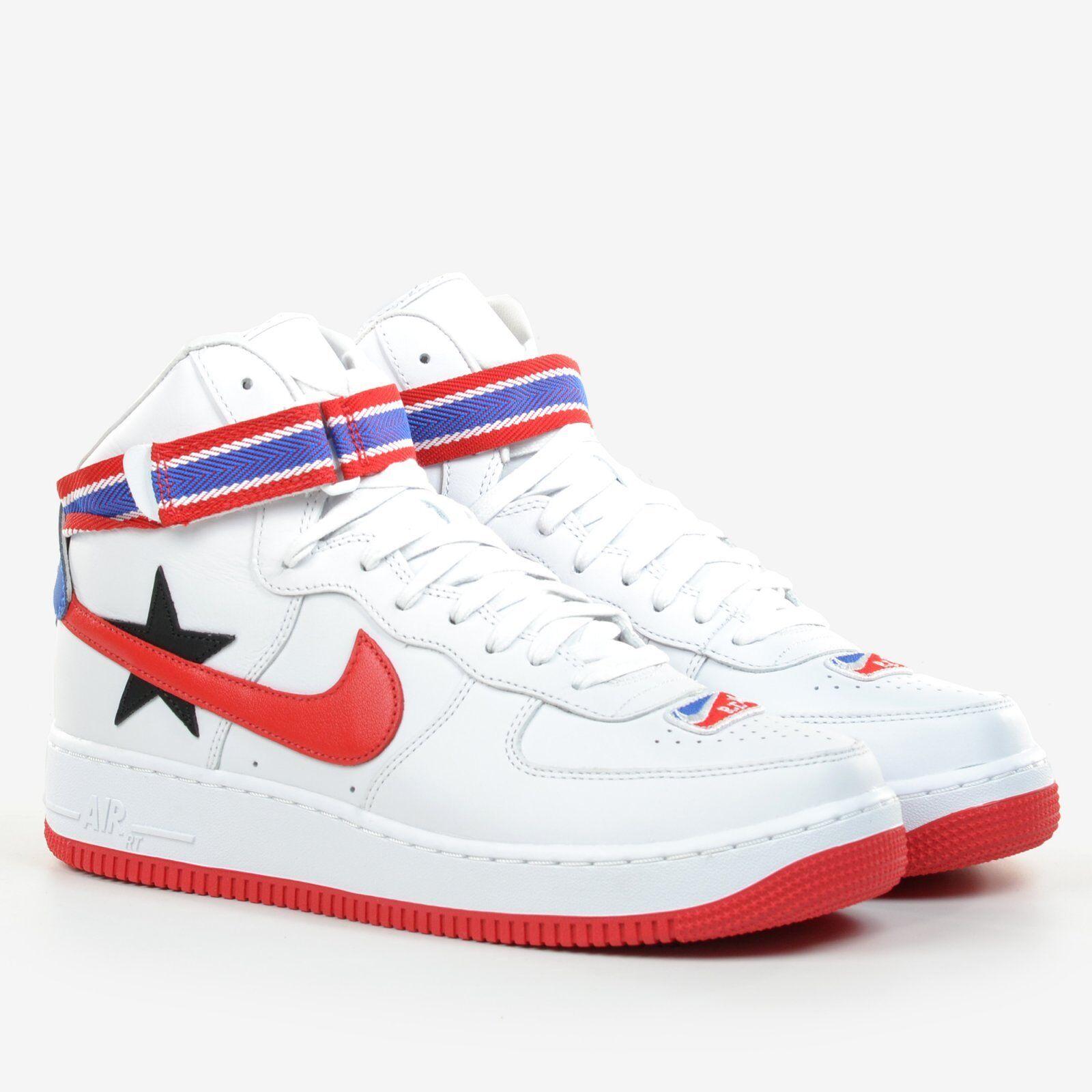 separation shoes 94a65 da888 NikeLab X RT Air Force 1 High Riccardo Tisci US 10.5 White Red Black Aq3366- 100 for sale online   eBay