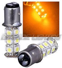#1157 Amber 18 SMD LED 12V Tail Light Rear Brake Stop Turn Signal Lamp Bulb PAIR