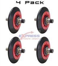 (4 Pack) 4581EL2002A 4581EL2002C LG Dryer Drum Roller Wheel and Shaft PS8260240