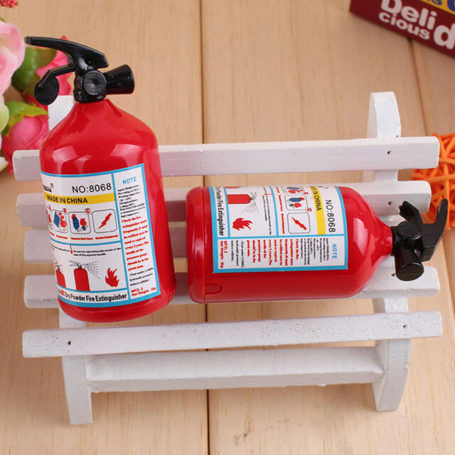 2 Pcs Pencil Sharpener Fire Extinguisher Shape Student Stationery Kids Gifts CA