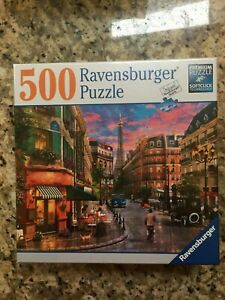 Ravensburger-500-pc-Jigsaw-Puzzle-PARISIAN-SUNSET-Paris-France-Eiffel-Tower