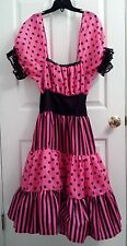 Rubie's Women's Medium (10-12) Black & Pink Polka Dot 50's Dance Costume Dress