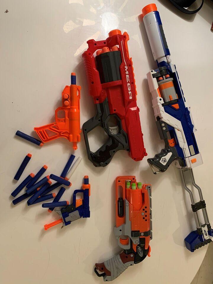 Våben, Nerf pistoler og geværer, Nerf