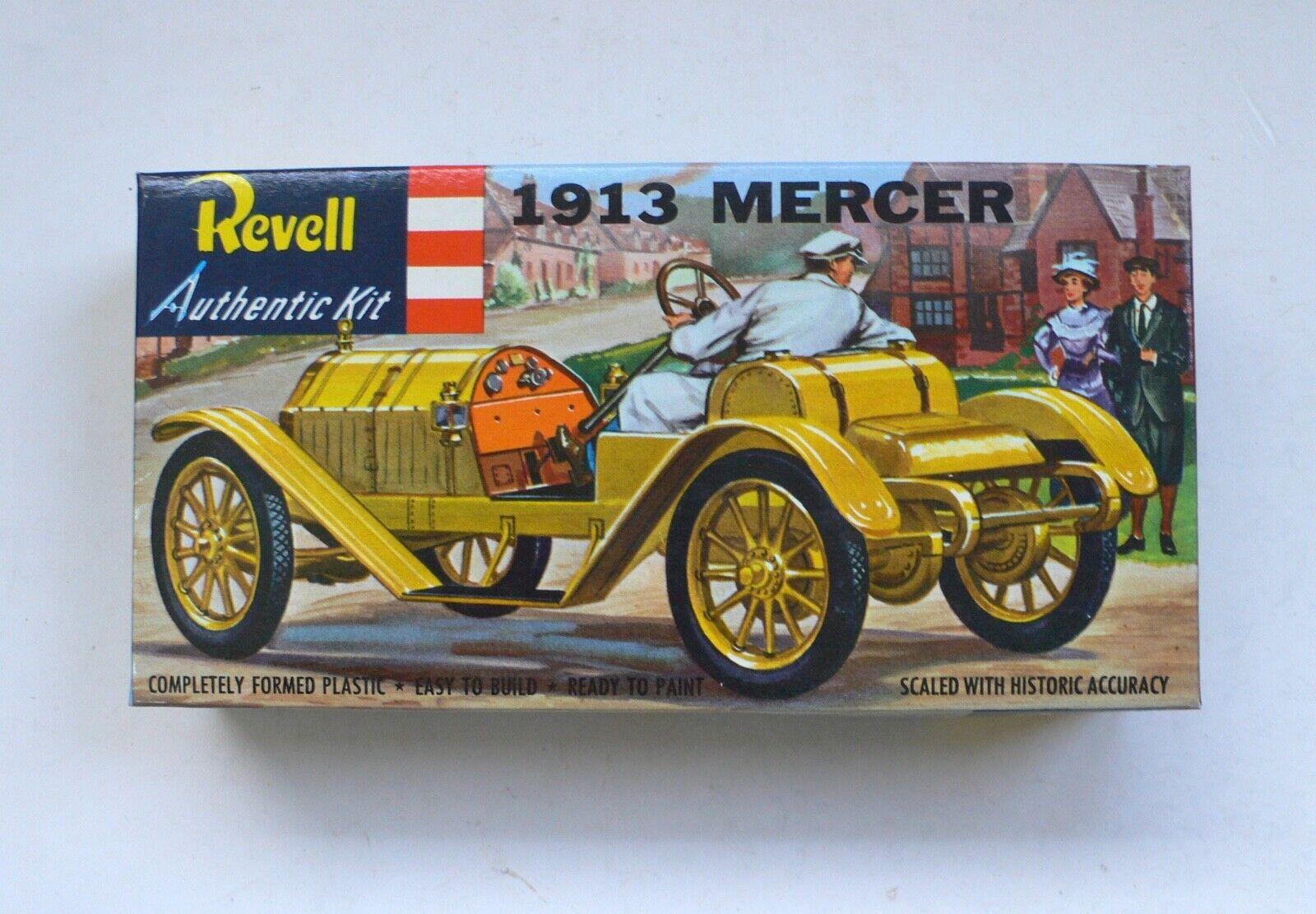 1950's Revell Authentic Kit 1913 MERCER CAR Model Kit MIB 1956 Great Britain