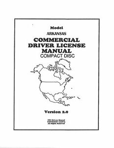 COMMERCIAL DRIVER/'S MANUAL FOR CDL TRAINING-FLORIDA ON CD IN PDF PROGRAM.