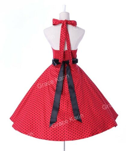 Damen 50er Jahre 60er Schaukel-Jahrgang Retro Blumen Muster Hausfrau Pin Up Süß