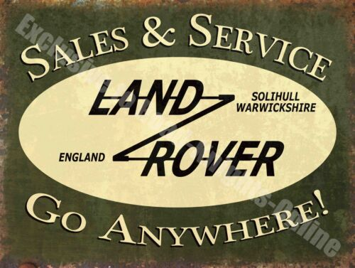 Vintage Garage 43 Land Rover Sales /& Service Old Advert Medium Metal Tin Sign