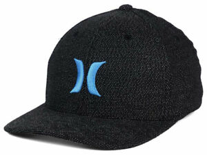 Hurley Men s Black Suits Flex Fit Hat Cap - Game Royal  aad78c3f7202