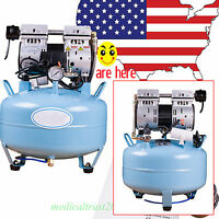 Us 30l 130l/min Dental Medical Oil Fume Silent Noiseless Oilless Air Compressor