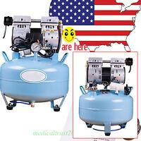 Us 30l 130l/min Dental Medical Oil Fume Silent Noiseless Oilless Air Compressor