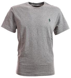 Polo-Ralph-Lauren-Herren-Rundhals-Shirt-T-Shirt-grey-meliert-alle-Groessen