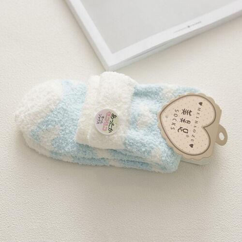 Women Bed Socks Love Heart Fluffy Warm Winter Gift Soft Floor Socks FO