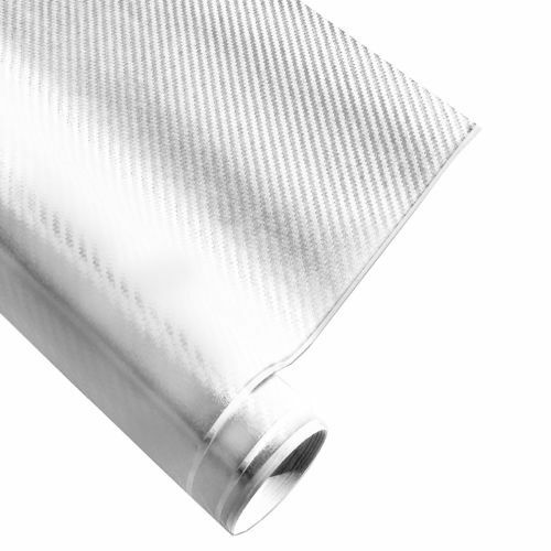 Carbon Fibre 3D Wrap Foil Vinyl Structure BUBBLE-FREE Adhesive Wrap Car Bike
