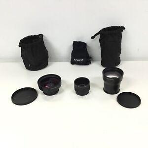 2 x Canon Tele-Converters, 2x TC-DC58C & 0.75x TC-DC58B w/ Lens Adapter #924