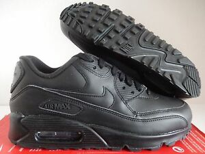 8aef32cf6ee1 MENS NIKE AIR MAX 90 LEATHER BLACK-BLACK SZ 7.5  302519-001