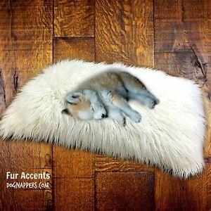 Dog Bed Cat Mat Soft Padded Pet Mat Premium Faux Fur