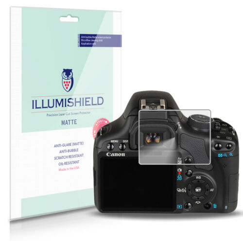 iLLumiShield Anti-Glare Matte Screen Protector 3x for Canon EOS 500D Rebel T1i