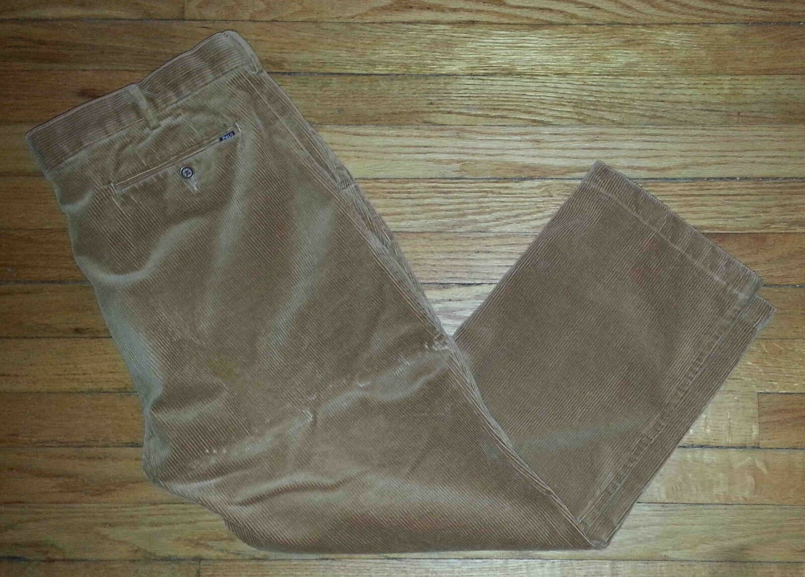 Ralph Lauren Polo Pants Corduroy 40x30 Solid Lt Brown Classic Fit SOFT p3057