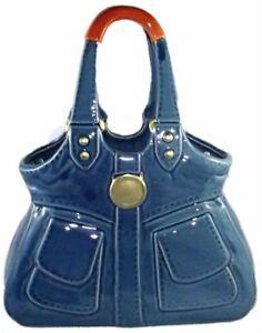 Large-Trendy-Glossy-DENIM-STORY-Ceramic-Vase-Hand-Bag-Ornament-Gift