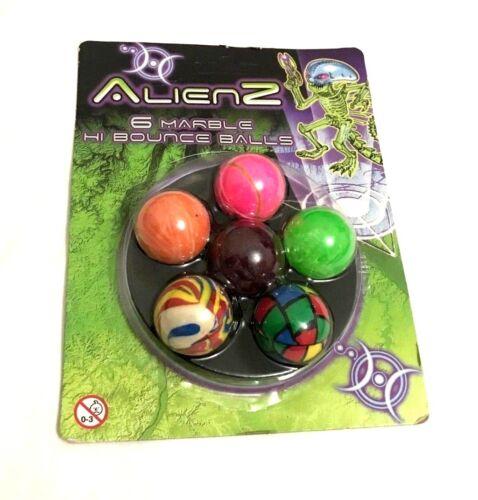 6 PACK Marble hi-bounce ball party bag favor stocking filler childrens