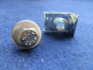 Rover 75 mg Z Bajo Bandeja Belly Pan Spire velocidad Clips De Acero Inoxidable Tornillos X 10