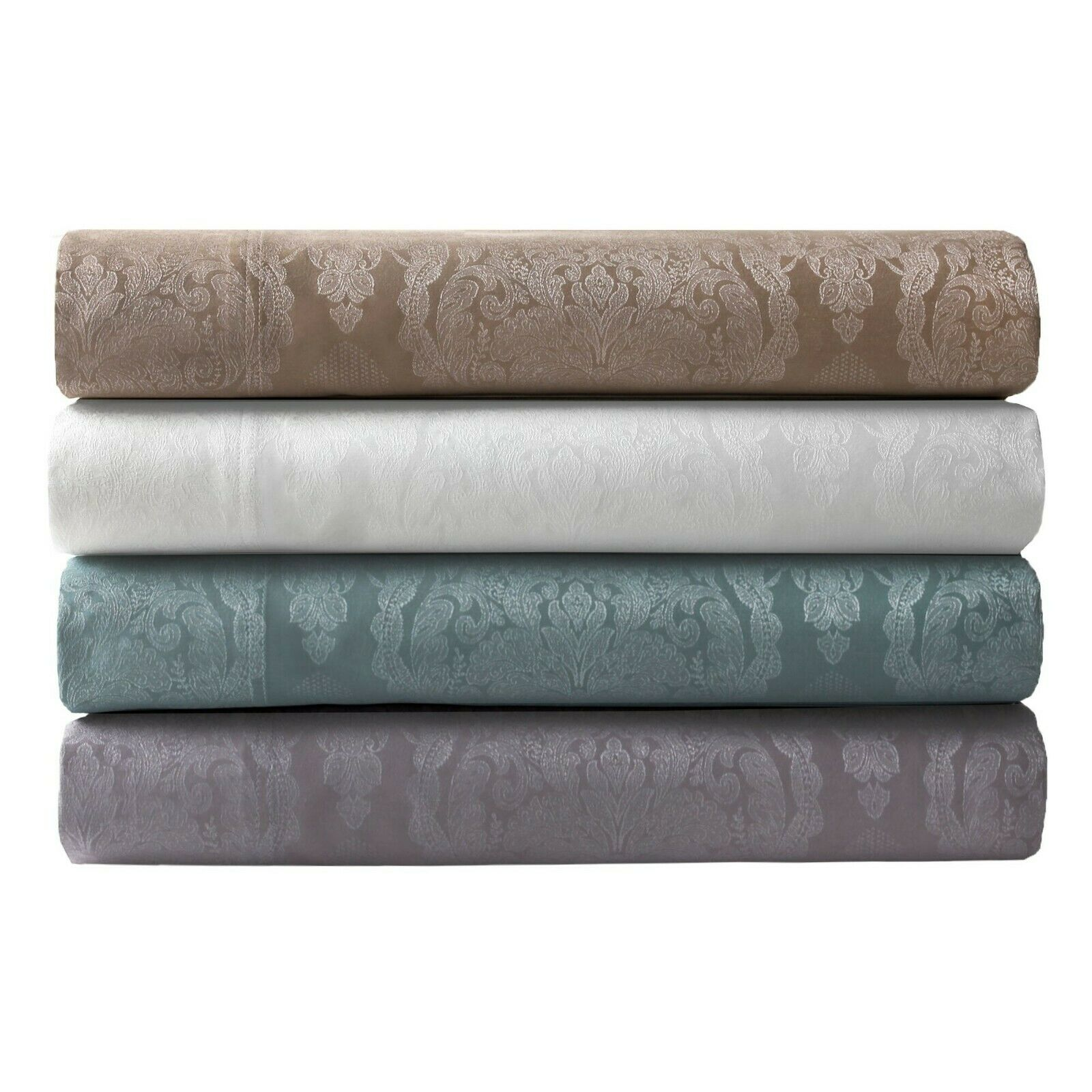 Luxurious 800 TC Jacquard Jacquard Jacquard Damask Sheet Set Elite Home 4 Farbes Extra Pillowcases a09aa2
