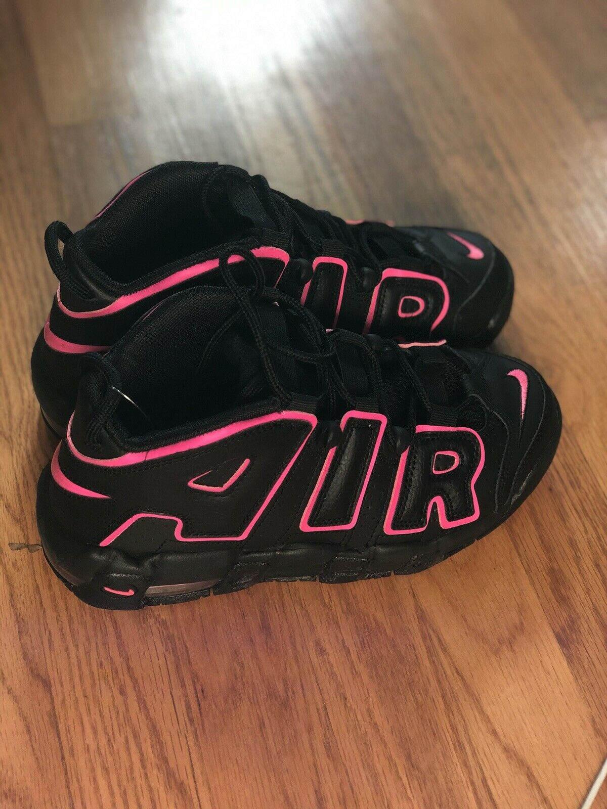 NIKE AIR MORE UPTEMPO (GS) BLACK-PINK