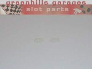 Greenhills-Scalextric-Ford-Escort-Cosworth-White-Wing-Mirror-Pair-NEW-G2447