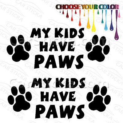 """PITBULL /""""KEEP YOUR LAWS OFF MY PAWS!/"""" Vinyl Decal Sticker Car Window Bumper Wall"""