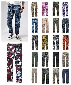 Mens-Military-Army-Combat-BDU-Camo-Pants-Casual-Cargo-Pants-Outdoor-Work-Camp