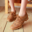 Brogue-Women-Retro-Lace-Up-Wing-Tip-Oxford-College-Style-Flat-Causal-Shoes-E609 thumbnail 3
