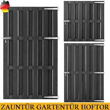 WPC Grau Gartentor Gartentür Zauntür Lattenzaun Tor  Pforte Pfosten 60-170cm