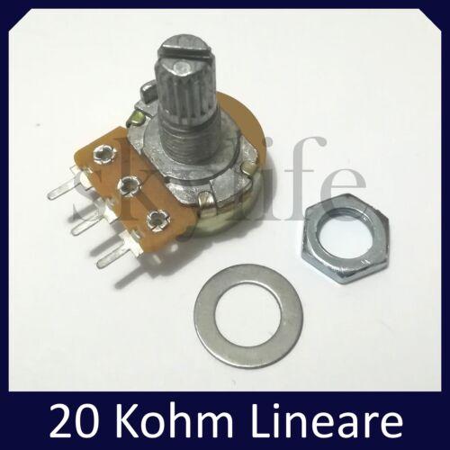 Potenziometro 20K lineare potenziometri monogiro 6mm 1 pezzo 20 Kohm