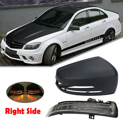 Right Door Mirror Cover Cap w// LED Turn Signal For Mercedes-Benz W212/&W204/&W221