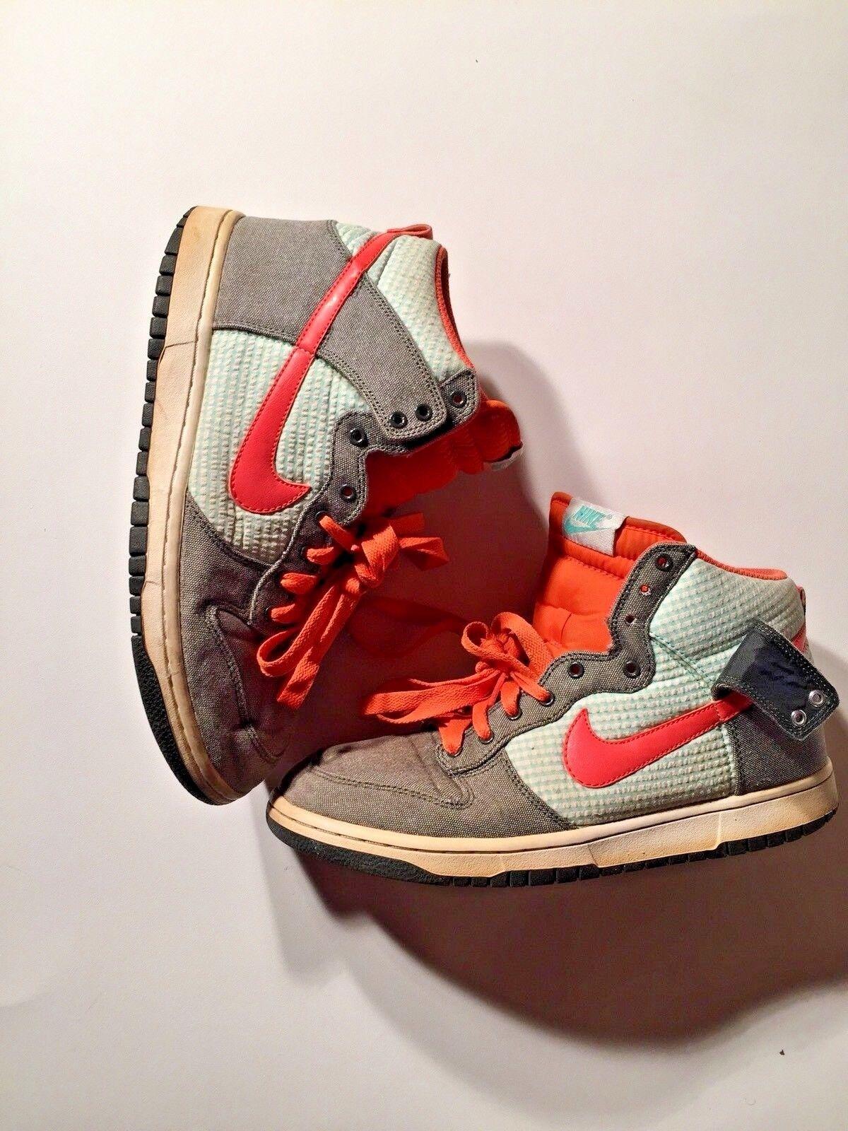 Men's Nike 009 Nike Men's Dunk High Top Dark Army Orange Blaze Mint SB Sz 9 344648-300 S53 8fa1eb