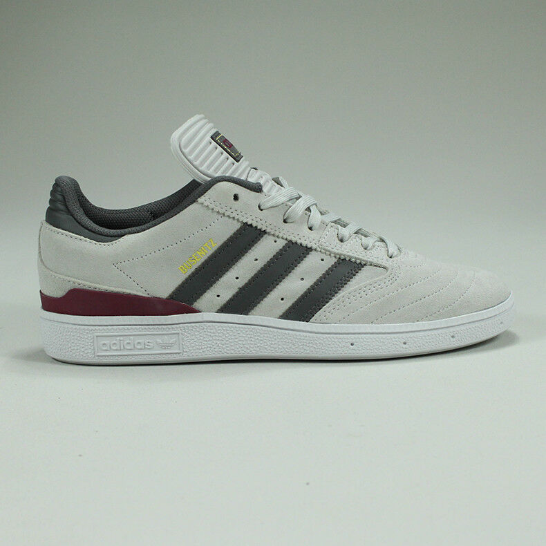 Adidas Busenitz Skate Baskets Gris/Bordeaux/Blanc Neuf Taille UK 6,7,12-Wht Brand New Taille UK 6,7,12