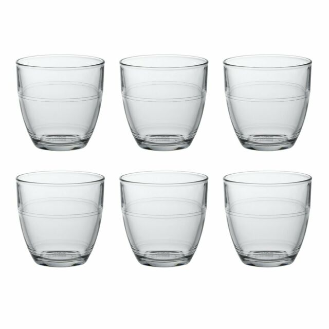 9cl Traditional French Glass Drinkware Duralex Set of 6 Gigogne Tumblers