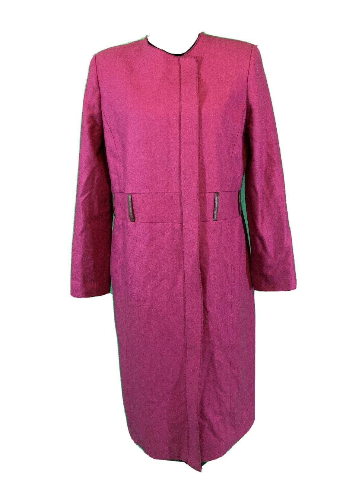 harve benard Coat Purple Sz 10 Button Down Wool Blend