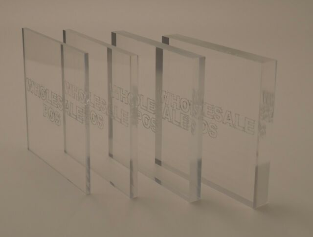 A2 2mm Clear Acrylic Perspex Plastic Sheet 594mm X 420mm Framing ...