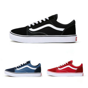 e3516aad32 New Van Old Skool Skate Shoes Classic Canvas Sneakers All Size UK3 ...