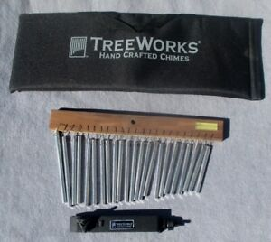 Treeworks-TRE-23-Chime-Single-Row-23-Bars-with-Mounting-Bracket-amd-Carry-Bag