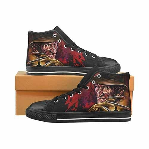 Freddy Krueger Nightmare On Elm St Horror Uomo's Classic High Top Canvas Shoes