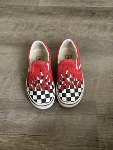 VANS Red Black and White Checkerboard